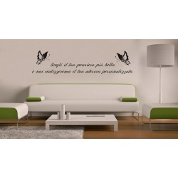 "Stampa digitale Wall Sticker ""FRASI"""